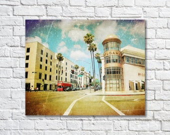 BUY 2 GET 1 FREE California Photography, Los Angeles, Rodeo Drive, California Art, Palm Trees, Wall Decor, Travel Photography, Pop Art