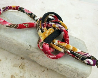 Japanese Chirimen Cording - Necklace or Bracelet Cord Kimono Fabric 813D