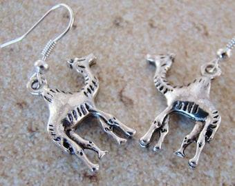 Camel Earrings, Tibetan Silver Earrings, Walk with Me Earrings