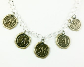 Clearance Sale MAMAN Necklace with Bright Silver Chain