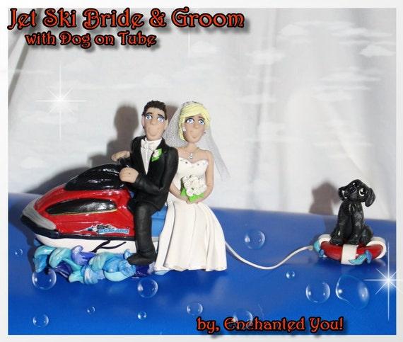 Jet Ski Wedding Cake Topper Bride Groom On By