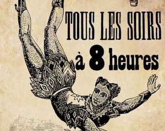 circus acrobat french poster clip art png Digital graphics Image Download carnival circus