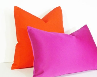Vibrant Orange Pillow, Bold, Bright, Vibrant, Throw Pillow Covers, Solid Orange Cushion Cover, Lumbar Pillows 12x18, 18x18