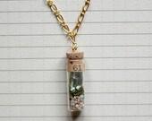 Terrarium Necklace with Moss inside Vial - Miniature
