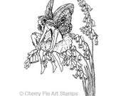 Foxglove FAIRIES - CLING RuBBer STAMP by Cherry Pie Art Stamps