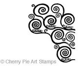 Spirals by Gustav KLIMT - small size- CLiNG RuBBer STAMP by Cherry Pie Art Stamps