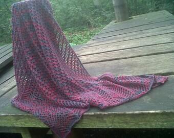 PDF pattern for Chevron shawl