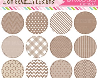 80% OFF SALE Kraft Colored Circle Frames Clipart Commercial Use Clip Art Graphics Instant Download