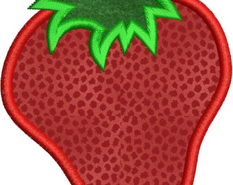 Applique Strawberry Machine Embroidery Designs 4x4 & 5x7 Instant Download Sale