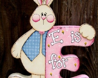 E is for Easter Bunny