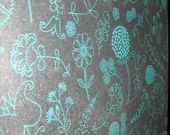Teal Flowers ..Magnet Dry Erase Steel Memo Board / housewarming gift / office decor / organization / dandelion / desk / coworker /wall decor