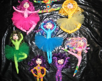e- Pattern - Rainbow Dancers - a delightful set of dancing dolls
