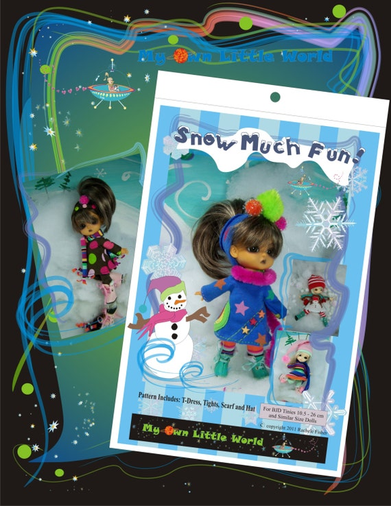 Snow Much Fun Pattern for BJD Tinies 11cm to 27cm