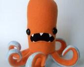 Octopod in Orange and Light Blue Polka Dots