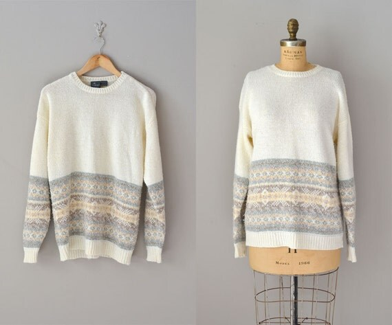 slouchy sweater / vintage long sweater / Soft Spoken sweater