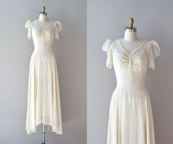 One Thousand Times Yes Gown 1930s Wedding Dress Silk
