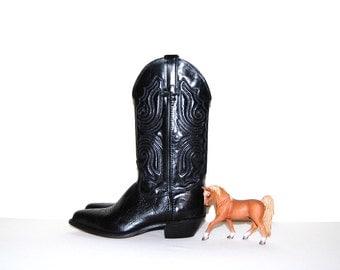 SALE.....Vintage Boots Black Western