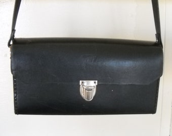 Candid Lomographer - 1960's Black CAMERA Case with Strap
