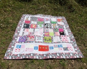 Memory Quilt with clothing