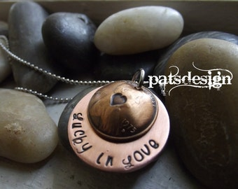 Lucky in Love  Locket 1 penny Pendant with Marry Me underneath, proposal pendant