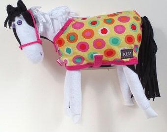 Purple Eyed Pony/ Black and White Pinto/ Print Blanket