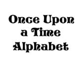 Instant Download - Once Upon a Time Alphabet Filet Crochet Cross Stitch Pattern