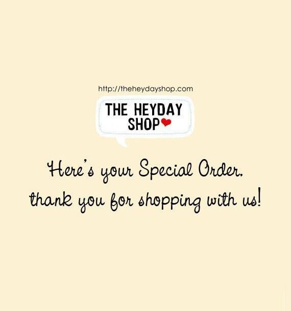 Special Order for bethanyaubuchon