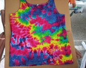 2X Ladies Rainbow Tie Dye Tank