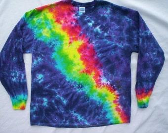 Evening Rainbow Tie Dye Long Sleeve with Pocket Size XL