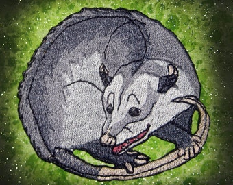 Awesome Virginia opossum Didelphis virginiana Iron on Patch