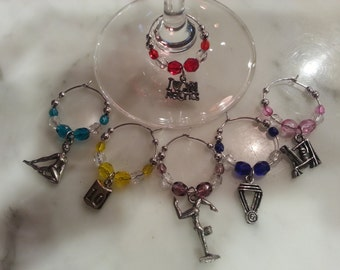Gymnastics Gymnast Wine Charms