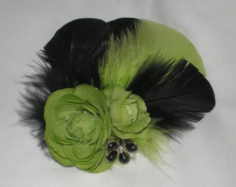 Feathered Hair Fascinator, Bridal Hair Accessories, Hair Fascinator, Hair Accessories, Bridesmaid, Prom, Party