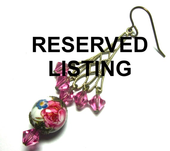 RESERVED LISTING Replacement Earring
