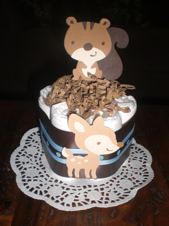 Items Similar To Woodland Mini Diaper Cakes Baby Shower