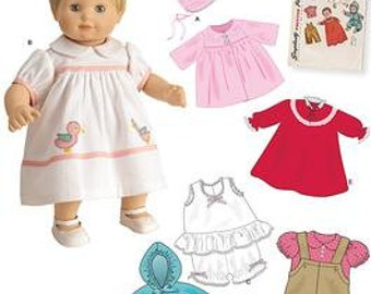DOLL CLOTHES PATTERN - Sew for Bitty Baby - Bitty Twins and Baby Dolls / Vintage Style