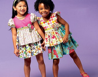 GIRL CLOTHES PATTERN / Make Boutique Style Tops - Skirts / Child Size 2 - 5 Or Girl Size 6 - 8