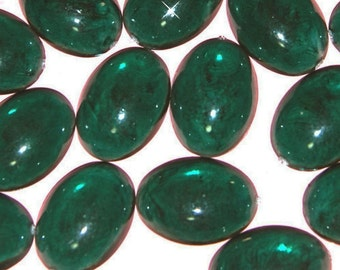 Wholesale 72 Emerald Green Acrylic Oval Cabochons 25X18MM ER5