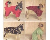 Simplicity 2303 - Dog Clothes Sewing Pattern - Extra Large Dog Coat Pattern - Uncut, FF