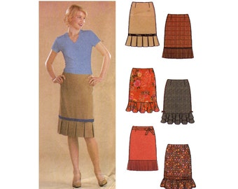 Misses Skirts Pattern - Womens Skirt Sewing Pattern - Simplicity 4882 - Uncut, Factory Folds - Out of Print Pattern