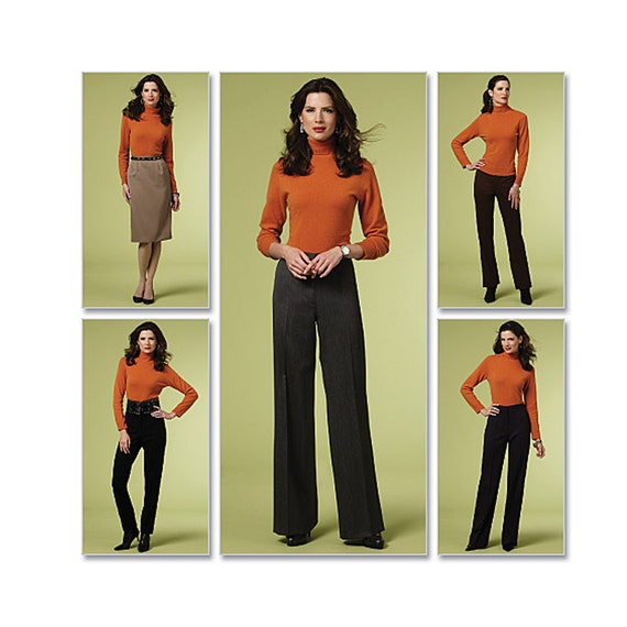 Womens Pants Sewing Pattern - Wide Leg Pants Pattern - Skinny Pants Pattern - Boot Cut Pants Pattern - Butterick 5391 - Uncut, FF