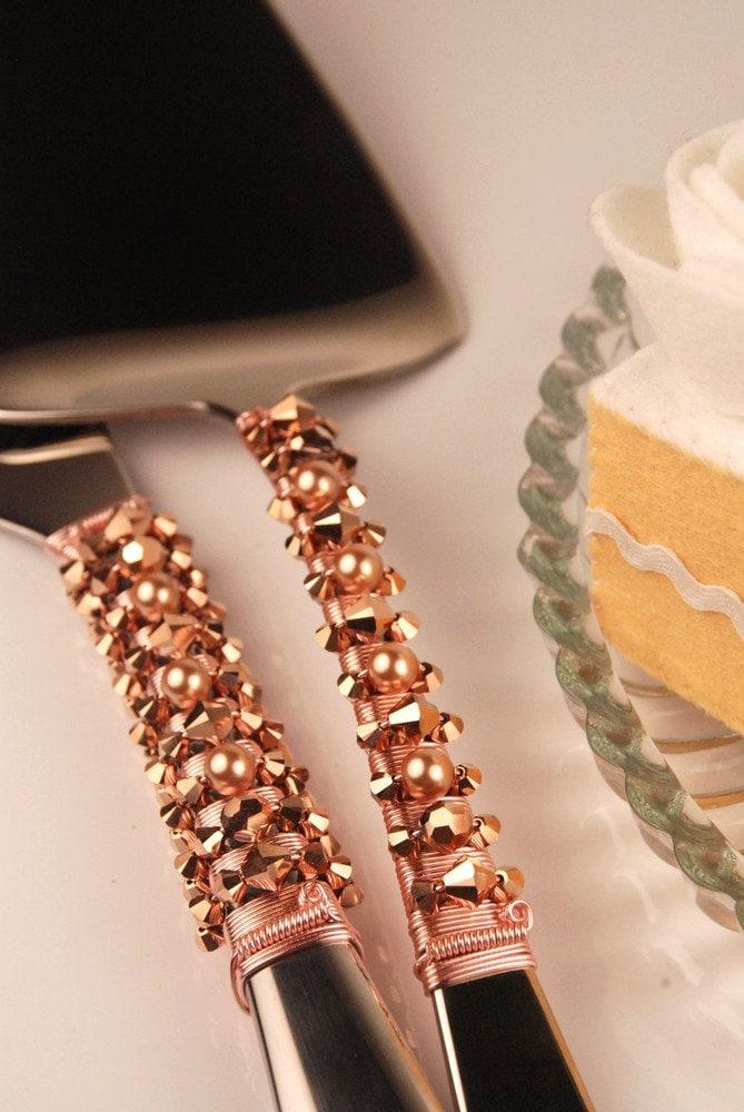 Wedding Cake Cutter Rose Gold