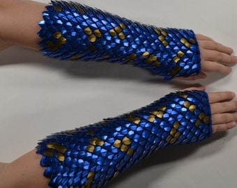 Dragon Scale Armor Gauntlets Knitted Scalemail Custom Made for You