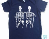 Kids SKELETON Friends Premium vintage soft Tee T-Shirt Fine Jersey T-Shirt (+Colors) - FREE Shipping