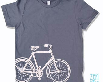 Kids Tee Vintage BICYCLE Shirt - American Apparel Sizes 2 4 6 8 10 12 (6 Colors) - FREE Shipping