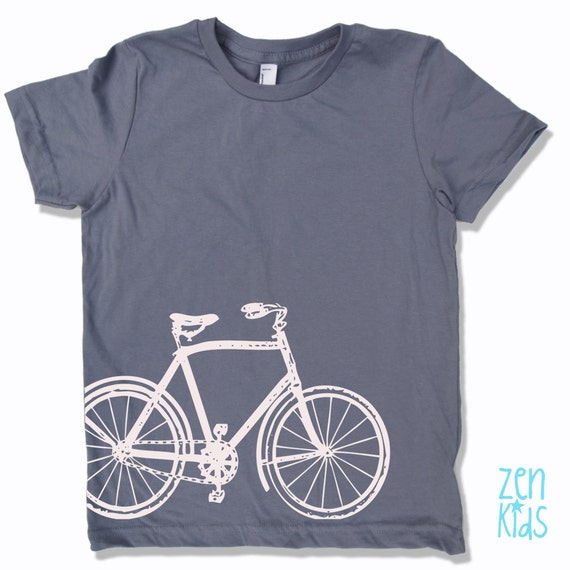 vintage bicycle shirt american apparel by zenthreads