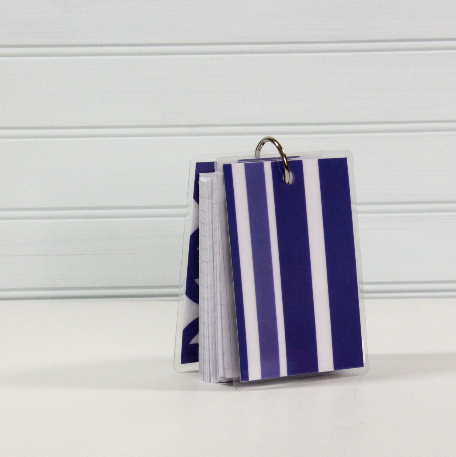 3 X 4 Note Card Ring Binder Mini Journal Blue By CrownBindery
