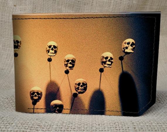 wallet - leather wallet - spectrum skulls wallet - mens wallet