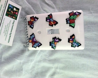 Butterfly Light Switch Plate - Single