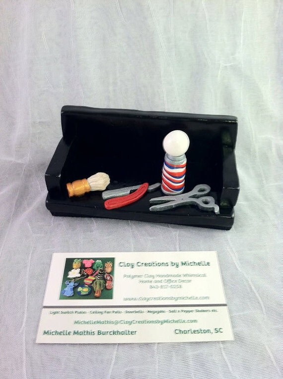 Barber Business Card Holder ready to be Personalized