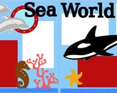 Sea World 2-page 12x12 do-it-yourself scrapbook kit